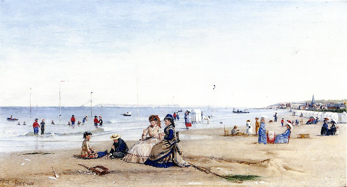Trouville Beach  1876 | Conrad Wise Chapman | Oil Painting