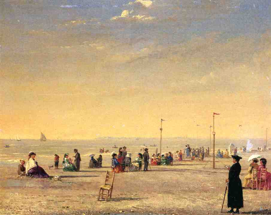 Trouville  1869 | Conrad Wise Chapman | Oil Painting