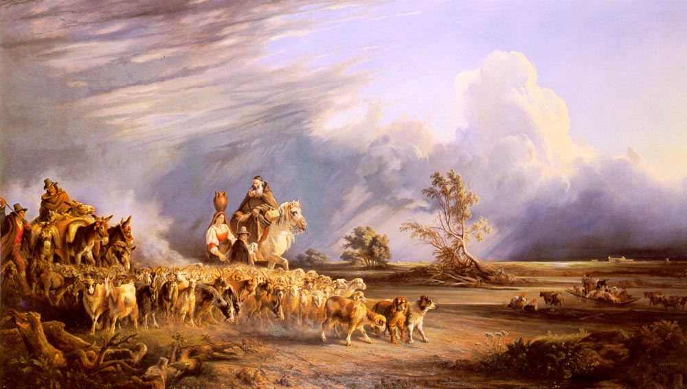 Goat Herders In A Neapolitan Landscape | Consalvo Carelli | Oil Painting