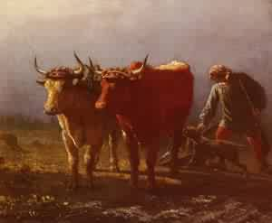 Plowing   Constant Troyon   Oil Painting