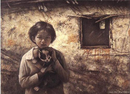 Childhood | Zhong Qi Wang | Oil Painting