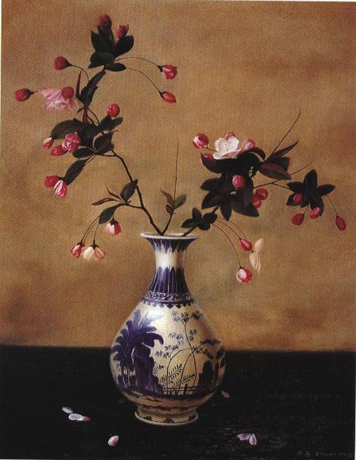 Flowers in a Vase | Ling Ji | Oil Painting