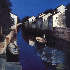 Water Town | Yong Sheng Zhang | Oil Painting