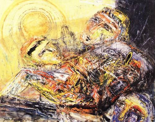 Japanese Picture 034 | Ocean's Bridge Artist | Oil Painting