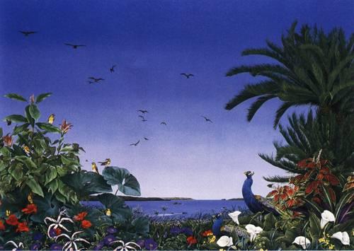 Japanese Picture 073 | Ocean's Bridge Artist | Oil Painting