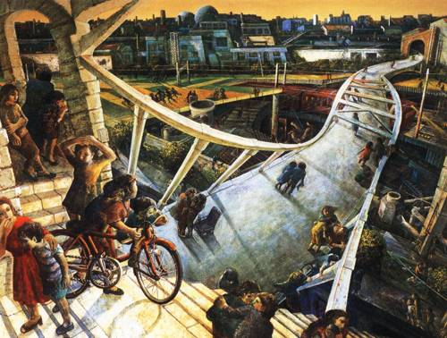 Japanese Picture 079 | Ocean's Bridge Artist | Oil Painting