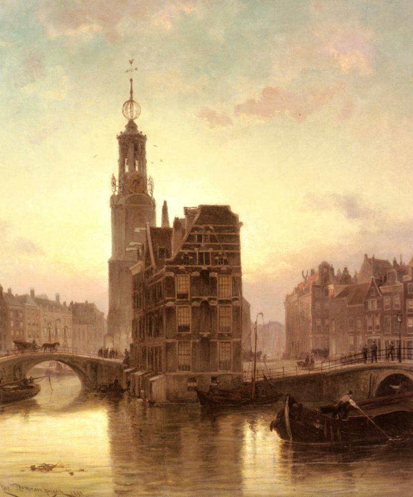 Amsterdam | Cornelis Christiaan Dommelshuizen | Oil Painting