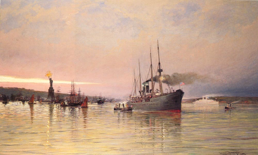 A View Of New York Harbor | Cornelis Christiaan Dommelshuizen | Oil Painting