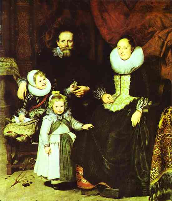Portrait Of The Artist With His Family 1621 | Cornelis De Vos | Oil Painting