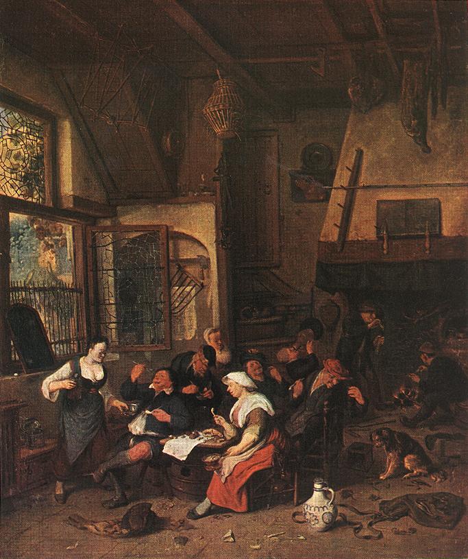 Tavern Scene | Cornelis Dusart | Oil Painting