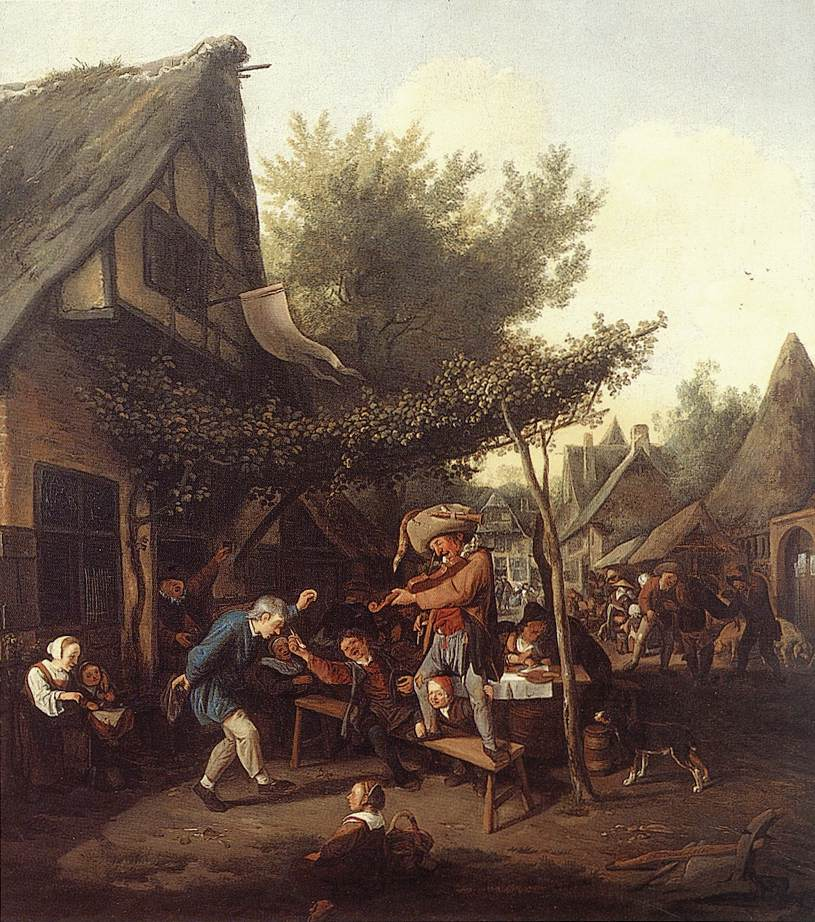 Village Feast 1684 | Cornelis Dusart | Oil Painting