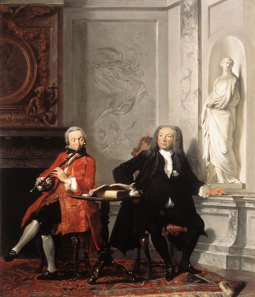 Jeronimus Tonneman and His Son 1736 | Cornelis Troost | Oil Painting