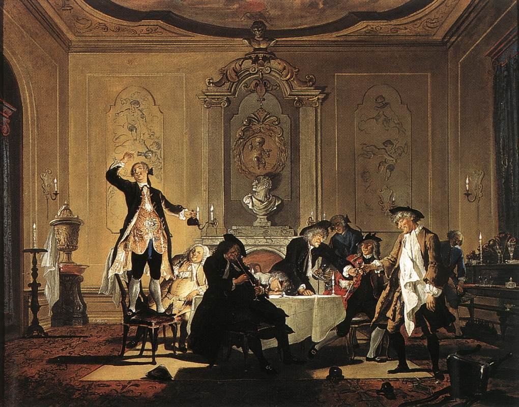 Rumor Erat in Casa There was a Commotion in the House 1740 | Cornelis Troost | Oil Painting
