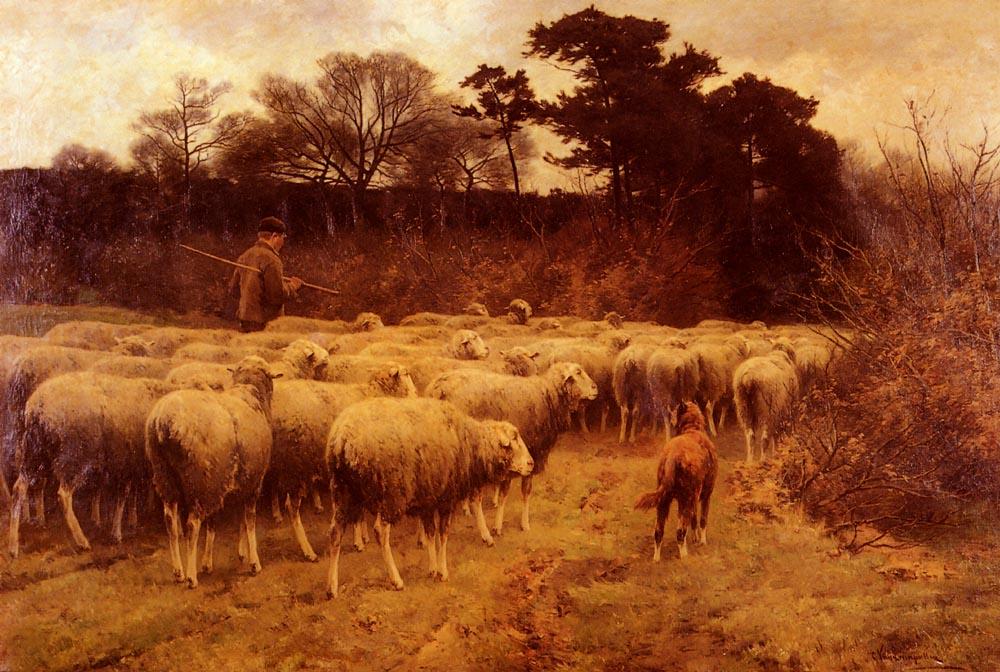 Return of the Flock | Cornelis Van Leemputten | Oil Painting