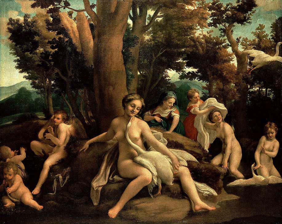 Leda With The Swan 1531-32 | Correggio | Oil Painting