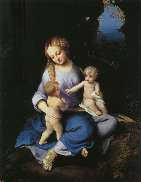 Madonna And Child With The Young Saint John 1516 | Correggio | Oil Painting