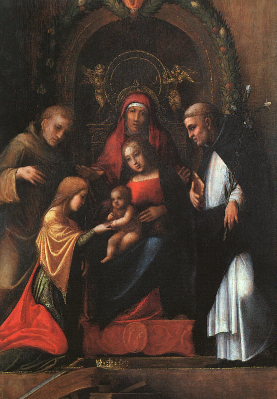 The Mystic Marriage Of St Catherine 1510-15 | Correggio | Oil Painting