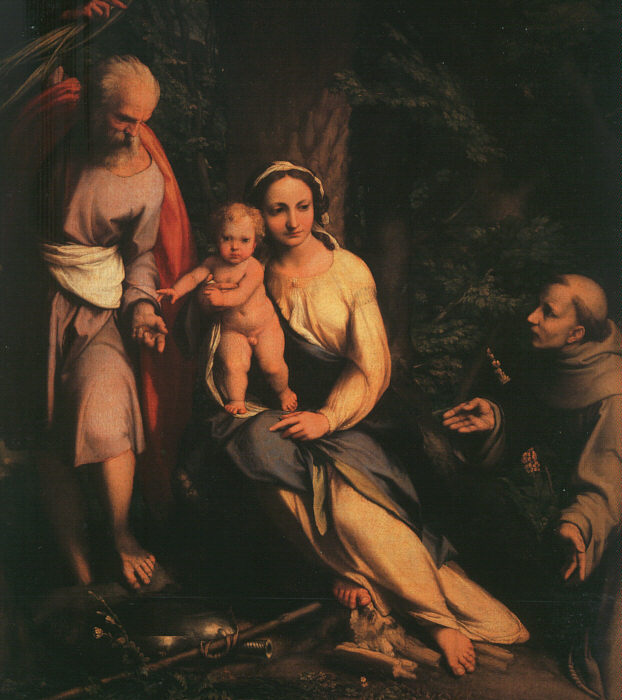 The Rest On The Flight To Egypt With Saint Francis 1517 | Correggio | Oil Painting