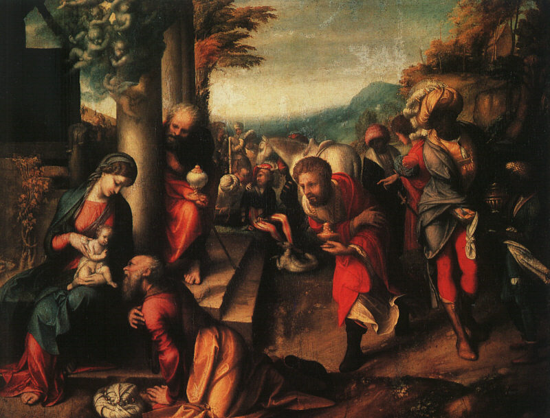 The Adoration Of The Magi 1516-18 | Correggio | Oil Painting