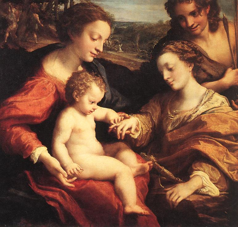 The Mystic Marriage Of St Catherine 1520 | Correggio | Oil Painting