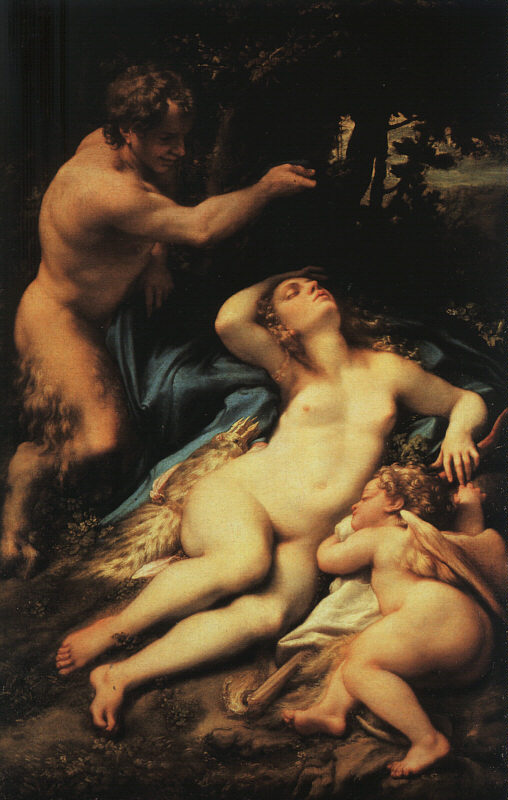 Venus And Cupid With A Satyr About 1528 | Correggio | Oil Painting