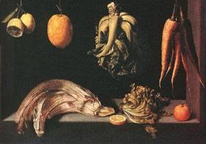 Still Life 1600 | Cotan Juan Sanchez | Oil Painting