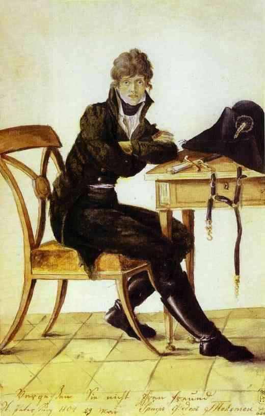 Self Portrait 1804 | Count Feodor Tolstoy | Oil Painting