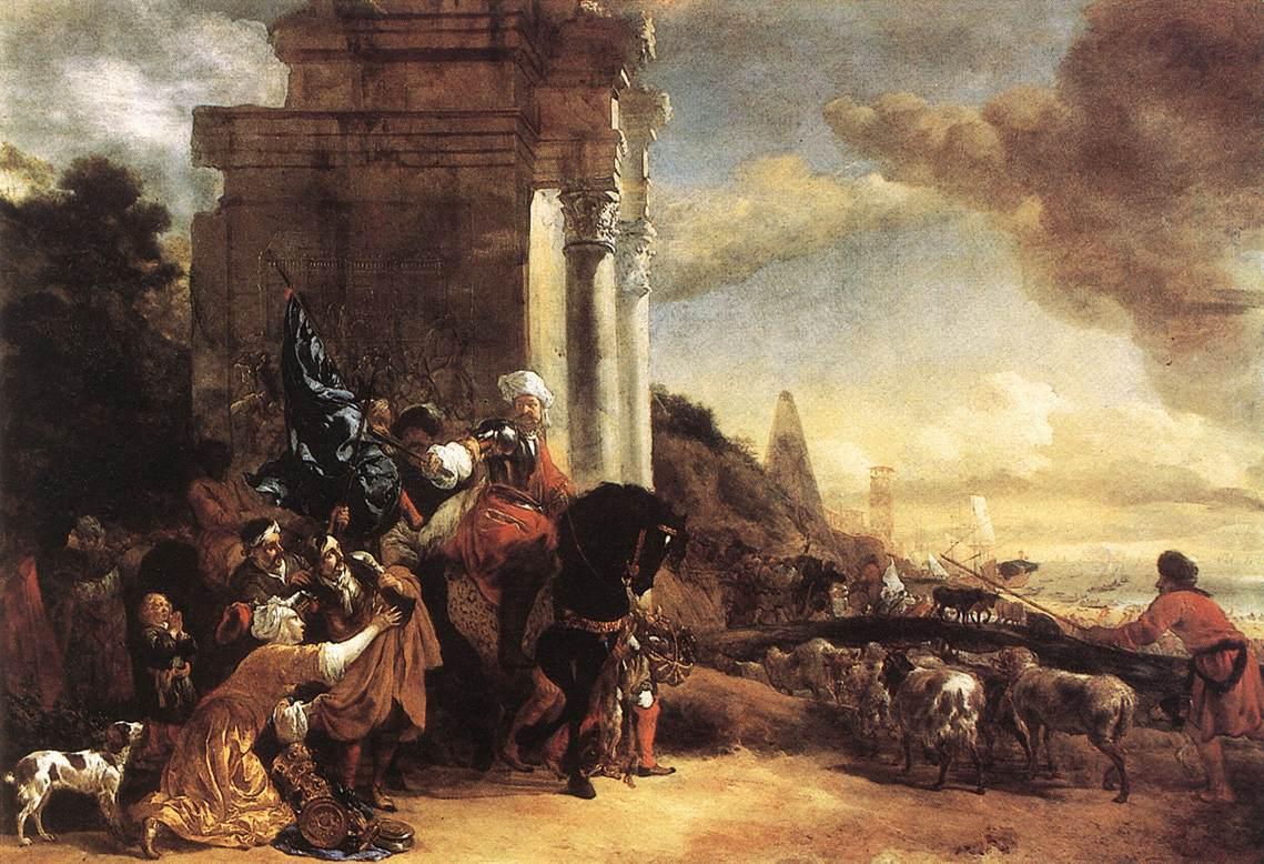 Departure Of An Oriental Entourage 1658-60