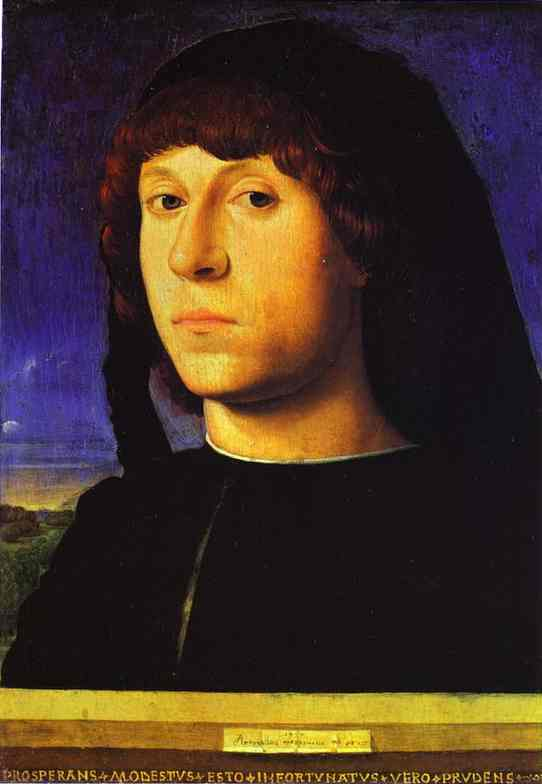 A Young Man 1478 | Da Messina Antonello | Oil Painting