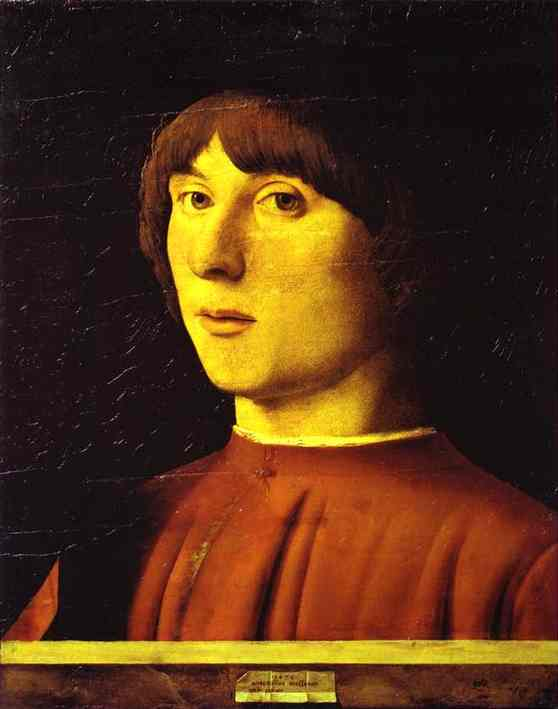 A Young Man 1474 | Da Messina Antonello | Oil Painting