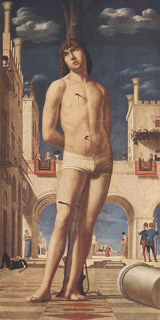 St Sebastian 1476-77 | Da Messina Antonello | Oil Painting