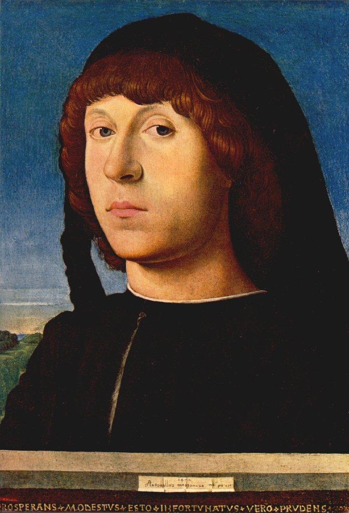 Portrait Of A Man 1474 | Da Messina Antonello | Oil Painting