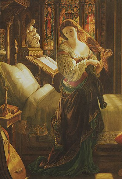Madeleine After Prayer | Daniel Maclise | Oil Painting