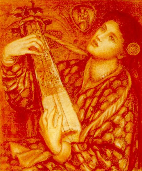 A Christmas Carol 1867 | Dante Gabriel Rossetti | Oil Painting