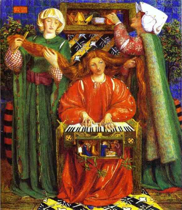 A Christmas Carol 1857-1858 | Dante Gabrie Rossetti | Oil Painting