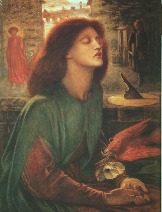 Beata Beatrix 1863 1870 | Dante Gabriel Rossetti | Oil Painting