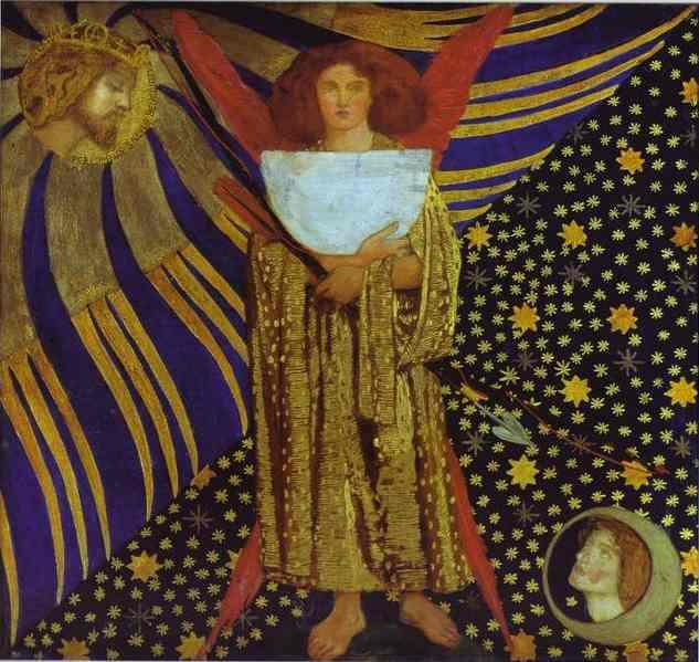 Dantis Amor 1860 | Dante Gabrie Rossetti | Oil Painting