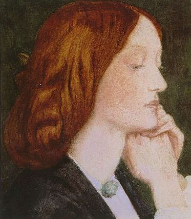 Elizabeth Siddal 1854 1855 | Dante Gabriel Rossetti | Oil Painting