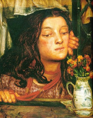 Girl at Lattice 1862 | Dante Gabriel Rossetti | Oil Painting