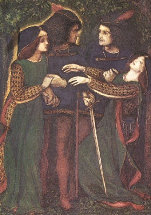 How They Met Themselves 1851 1860 | Dante Gabriel Rossetti | Oil Painting