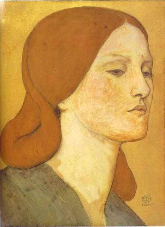 Portrait Of Elizabeth Siddal 1850-1865   Dante Gabrie Rossetti   Oil Painting