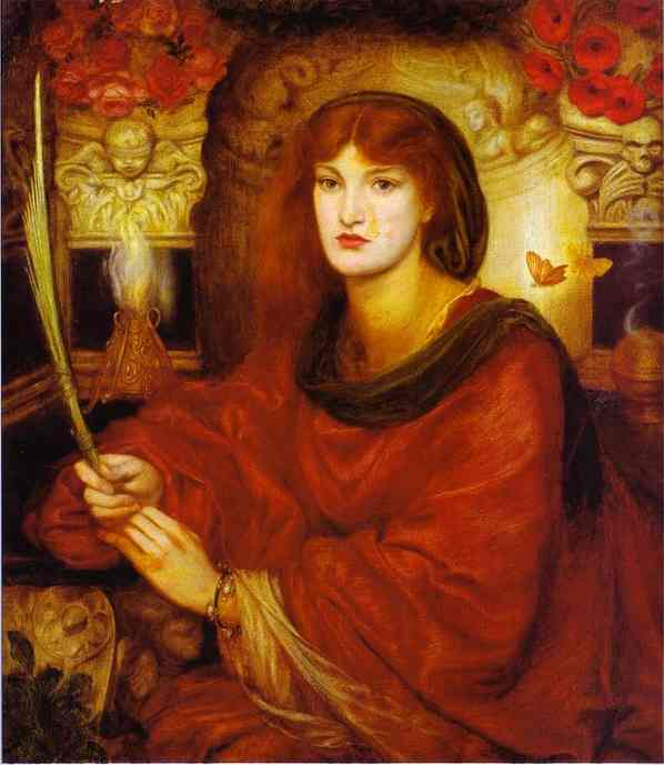 Sibylla Palmifera 1866-1870   Dante Gabrie Rossetti   Oil Painting
