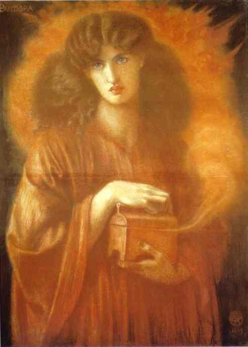 Study For Pandora 1868   Dante Gabrie Rossetti   Oil Painting