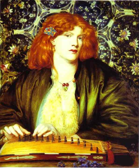 The Blue Bower 1865   Dante Gabrie Rossetti   Oil Painting