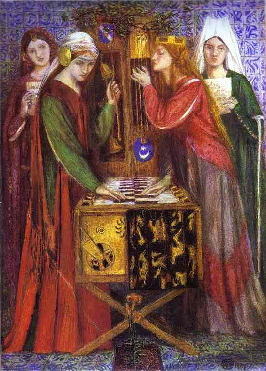 The Blue Closet 1857 | Dante Gabrie Rossetti | Oil Painting