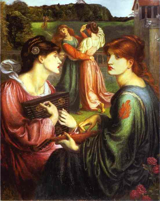 The Bower Meadow 1872 | Dante Gabrie Rossetti | Oil Painting