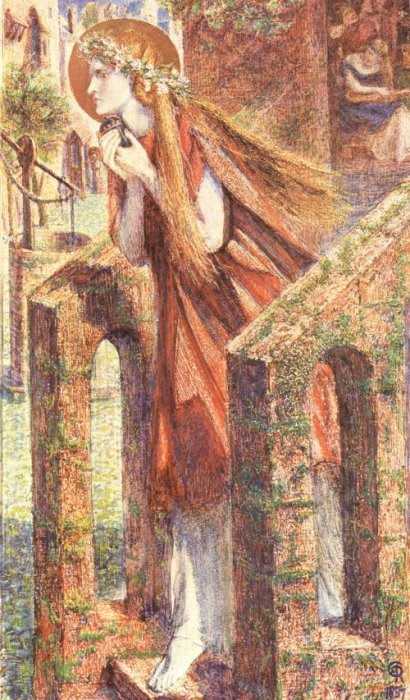 Mary Magdalen 1857 | Dante Gabriel Rossetti | Oil Painting