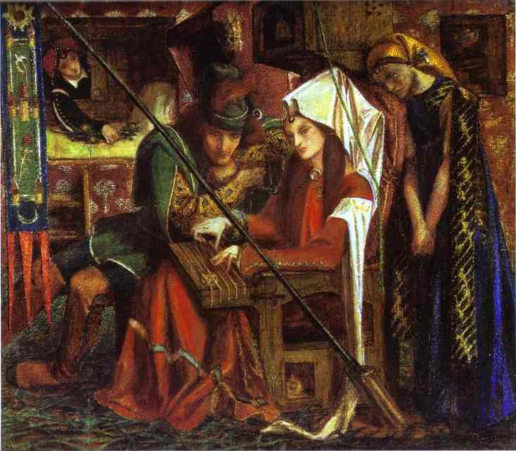 The Tune Of Seven Towers 1857 | Dante Gabrie Rossetti | Oil Painting