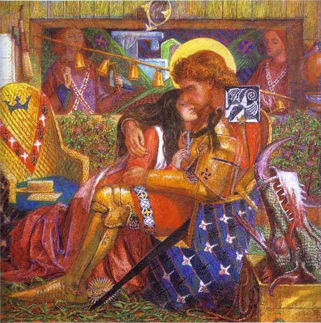 The Wedding Of St George And The Princess Sabra 1857 | Dante Gabrie Rossetti | Oil Painting
