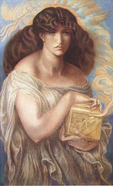 Pandora 1879   Dante Gabriel Rossetti   Oil Painting
